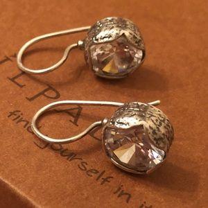 Silpada Sterling Silver & CZ Cinema Star Earrings